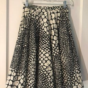 Anthropologie Skirts - Anthropologie Animal Print Midi Skirt w/ Pockets